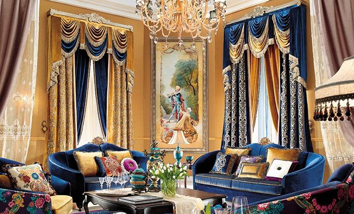 窗帘欧式简欧奢华加厚遮光窗帘布料客厅卧室书房落地